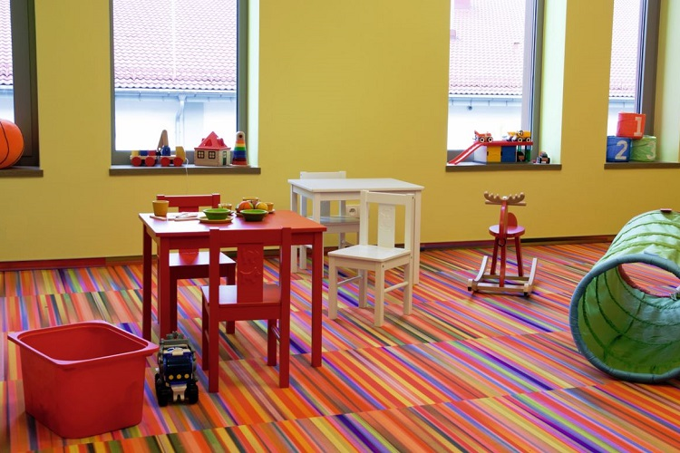 Soft Resilient Flooring - Fusion Classroom Design