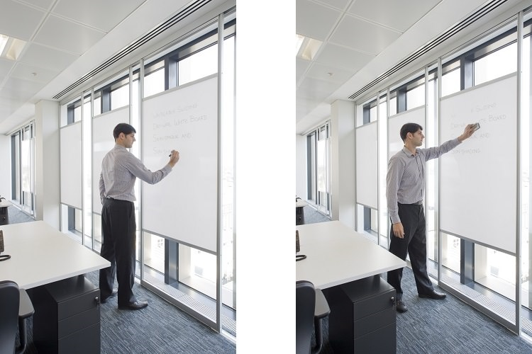 Sliding Dry Wipe Classroom Whiteboards - Fusion Classroom Design