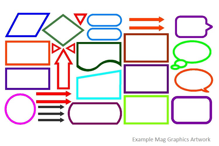 Mag Graphics | Magnetic Shapes for Schools - Fusion Classroom Design